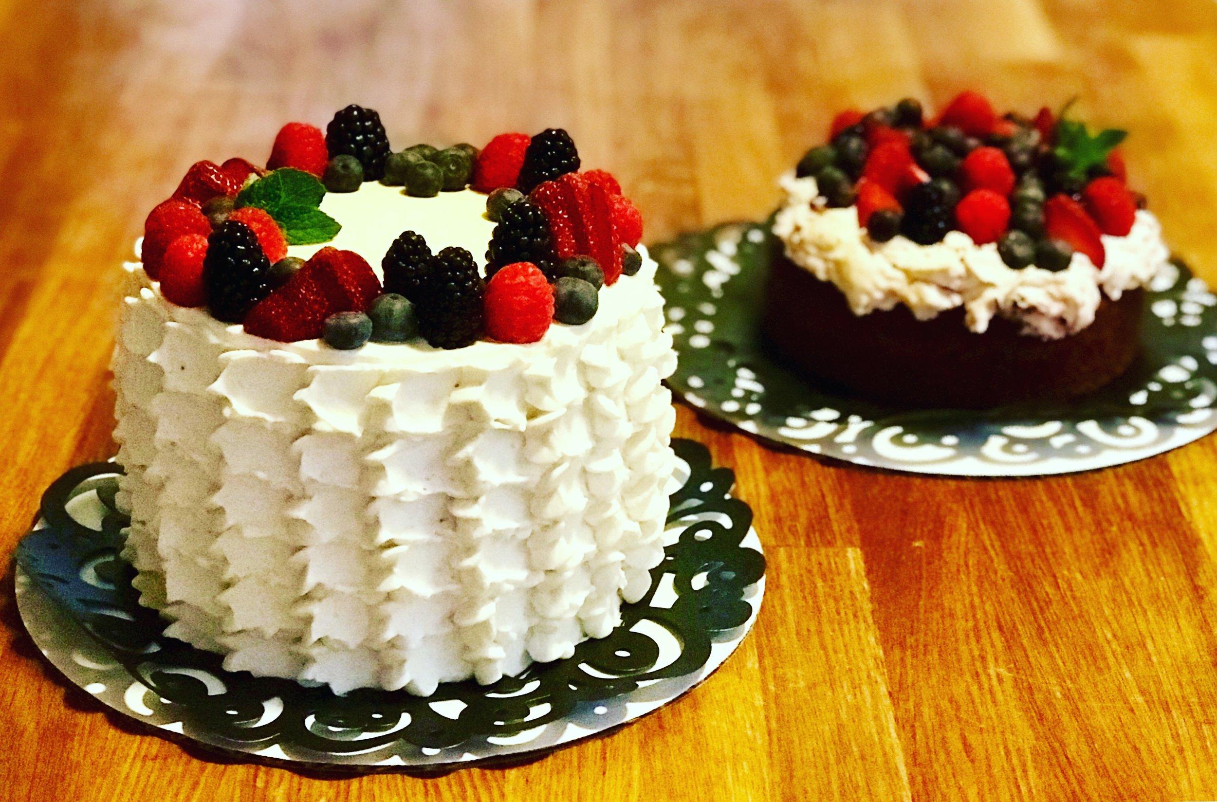 Berry Cream Cakes