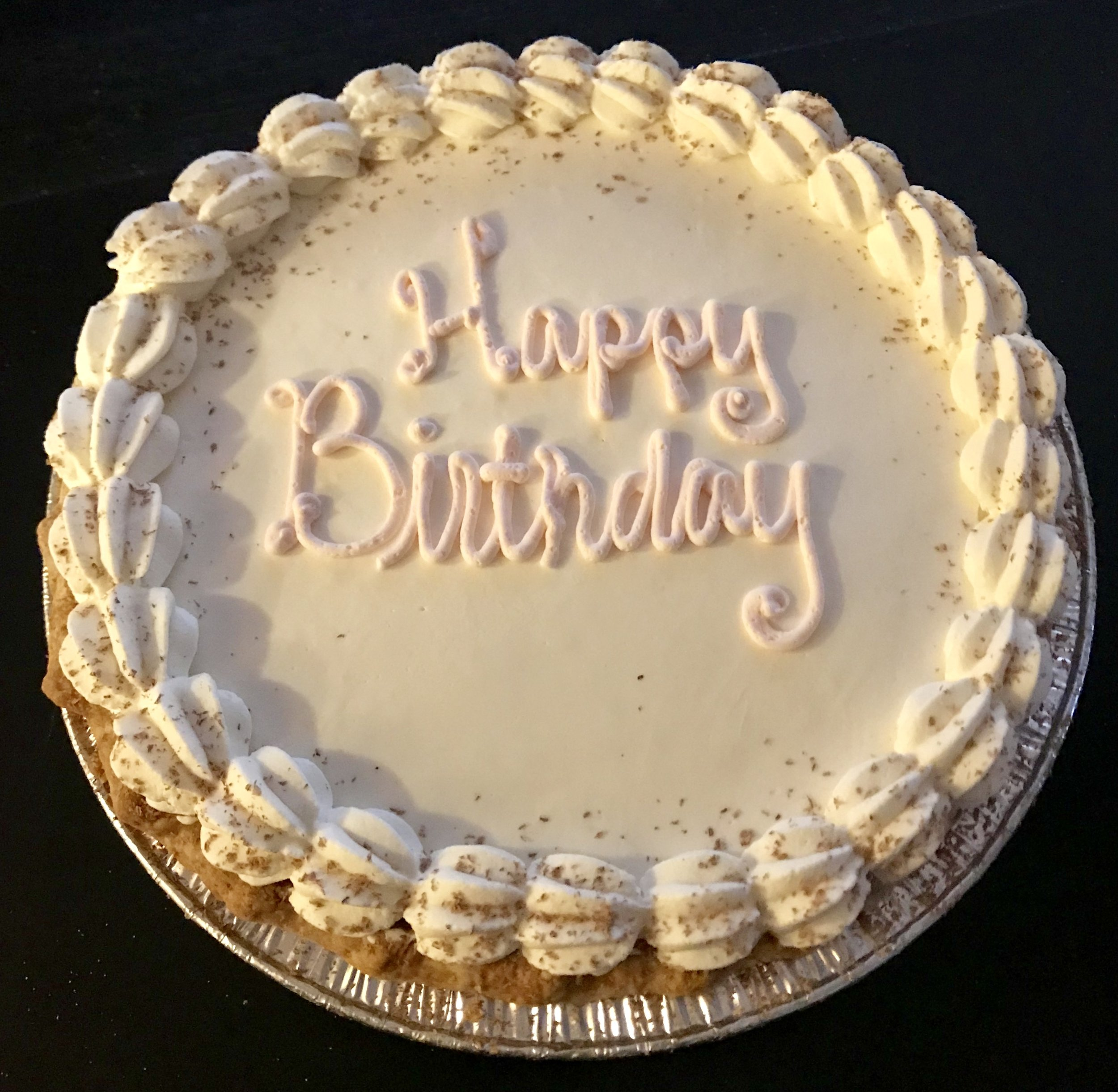 Birthday Chocolate Cream Pie