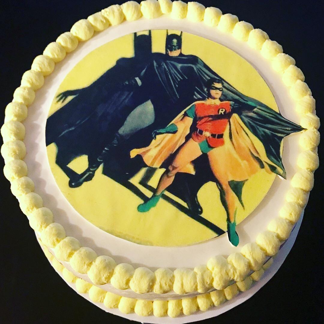 Batman and Robin Birthday Cake