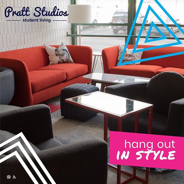 Take that much needed break and hang out in one of our completely renovated common areas with other residents😁 Call/text 724.349.2007 to schedule a tour! Studios start @$2,395/sem . . . . #PrattStudios #LivingSolo #studioapartment #IUP #gohawks #IndianaUniversityofPennsylvania #talonsup #IUPEdu #IUPproud #collegeliving #IheartIUP