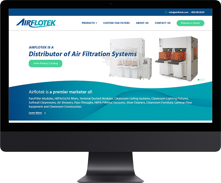 Airflotek   Founded in 1982, Airflotek is a distributor of air filtration systems including fan & filter modules, HEPA/ULPA filters, terminal ducted modules, etc..