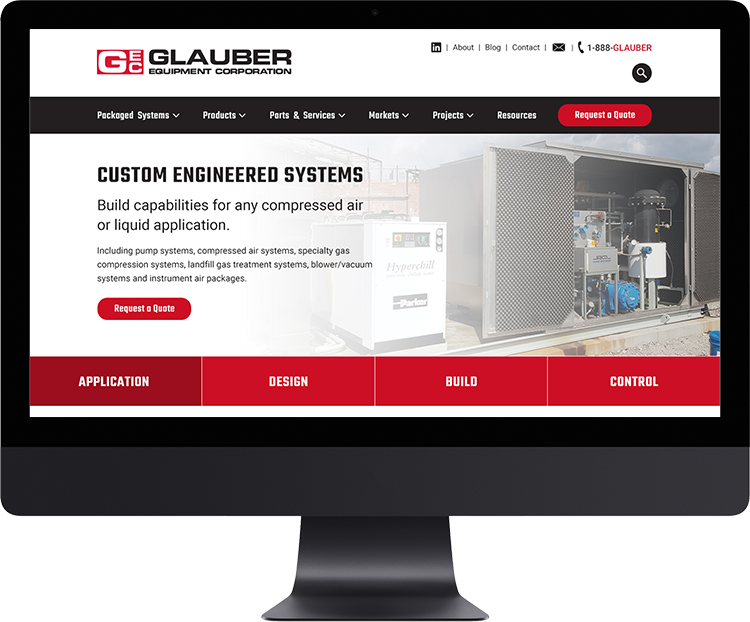 Glauber Equipment Corporation   Strategically located in Lancaster, NY,Glauber is the premier supplier of Centrifugal Pumps, Positive Displacement Pumps, Blowers, after-market parts and other services in western New York.