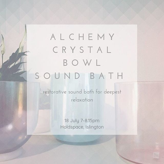 Tonight my loves ✨ @holdspace_  In this sound journey we will be working with the sound medicine of Alchemy Crystal Bowls. These beautiful bowls emit a powerful, pure resonance that instantly soothes the system and calms the mind. The tones produced by the bowls are not just heard by the ear but can also be felt in the body, with certain tones affecting the energy centers (chakras) to restore, heal and balance the system. We will also be working with other soothing sounds including lap harp, harmonic chimes and various percussive instruments.  #crystalsingingbowls #soundbath #soundhealing