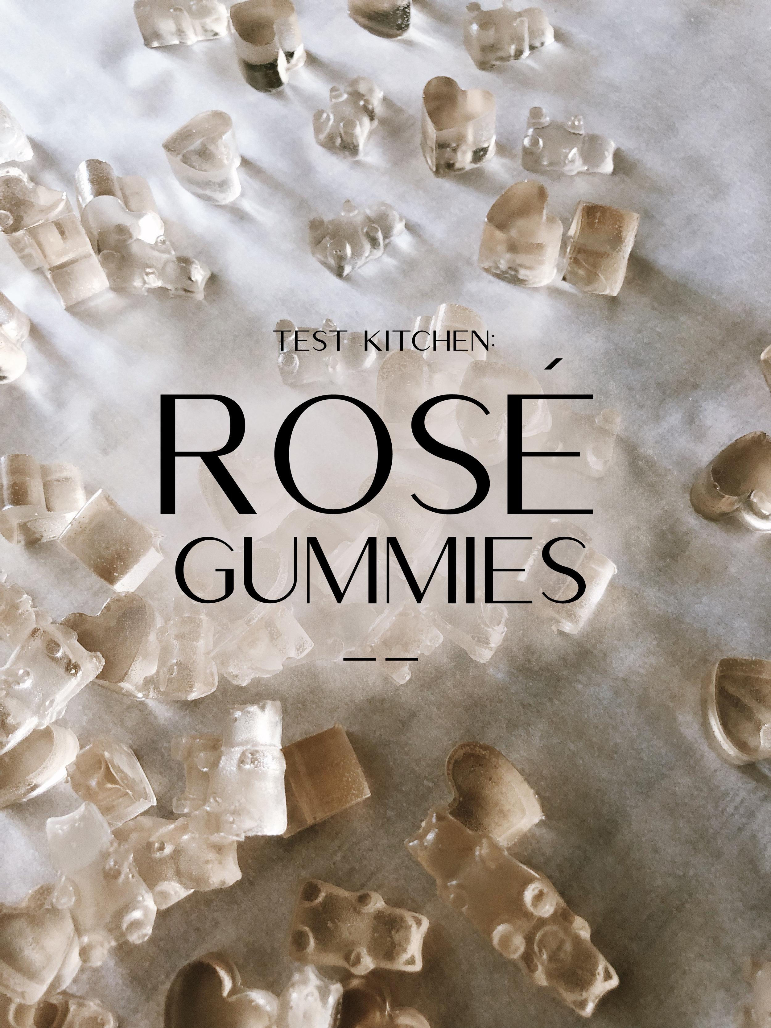 Homemade Rosé Gummies �