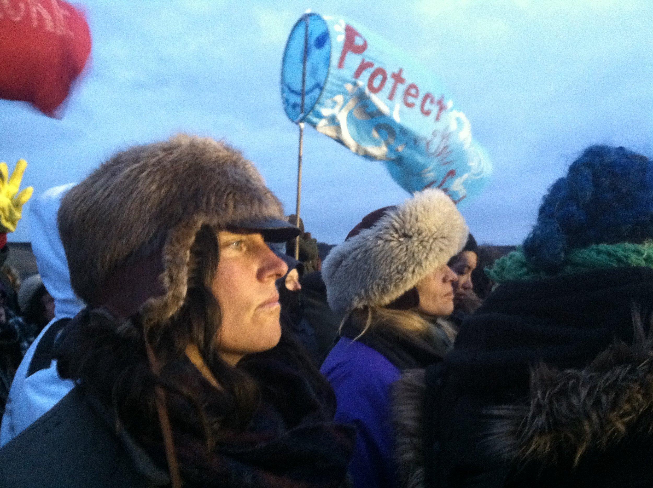 Emy during silent prayer action on Sunday, November 27th.