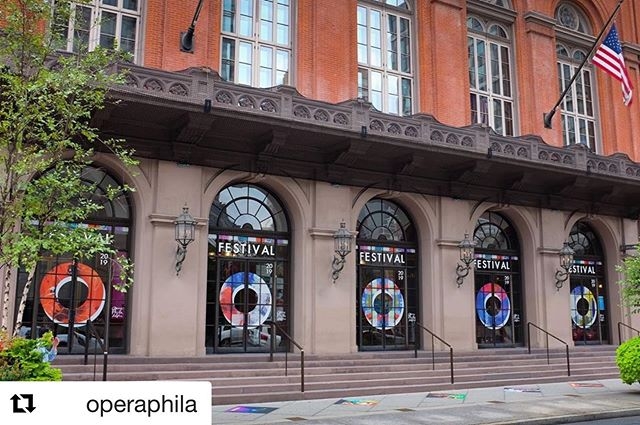 Happy festival opening!!! Over the past few days I was lucky enough to get out and see a few of the other shows that the festival offers and wow... it's stunning! Don't miss any of these unique shows! • • • • #Repost @operaphila with @get_repost ・・・ Welcome to Festival #O19