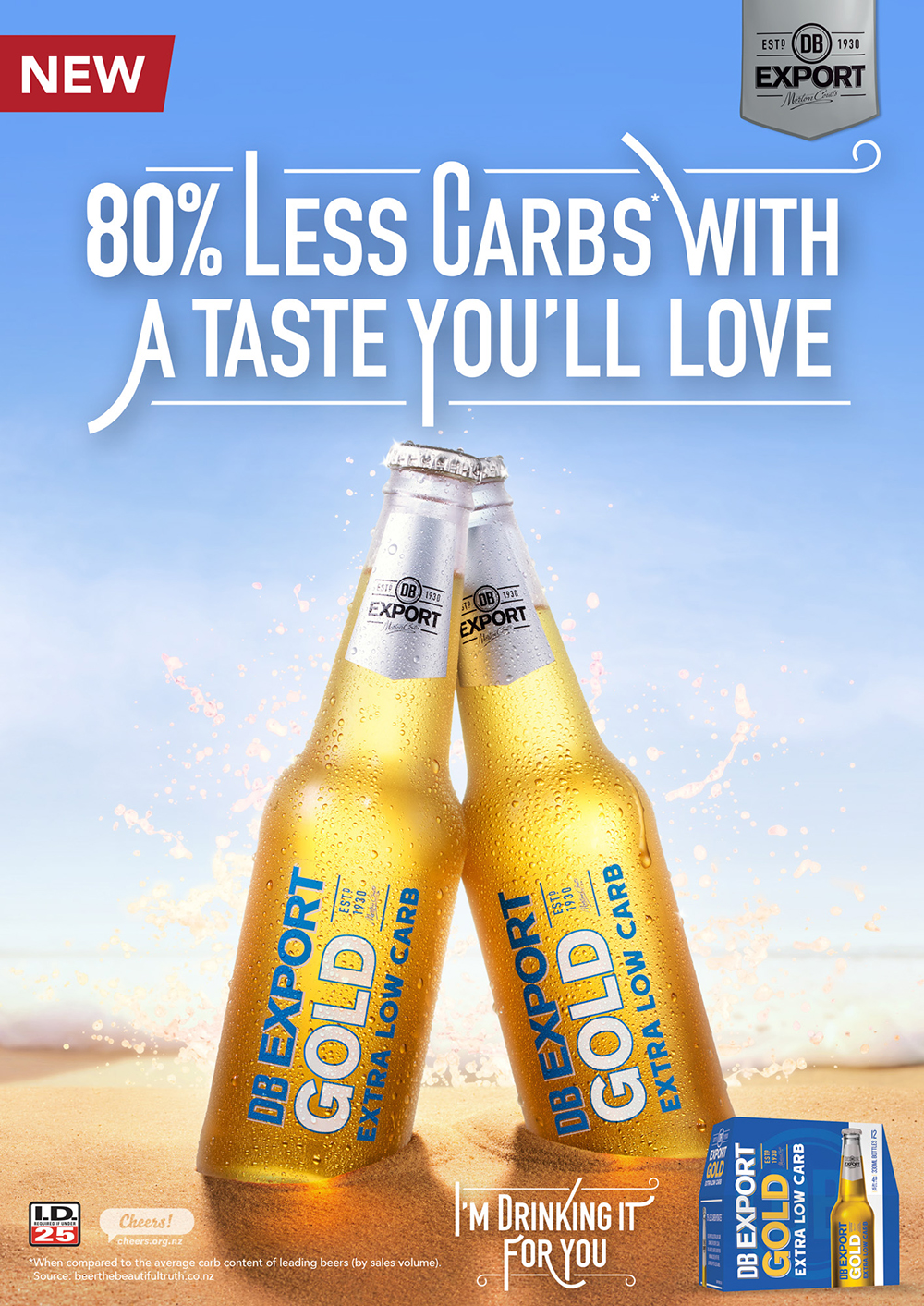 DBB0509 DB Export Gold EXTRA Low Carb - OurWest FP ad 190x270_FA.jpg