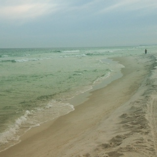 Pensacola Beach... the person in the right corner is Darrin.