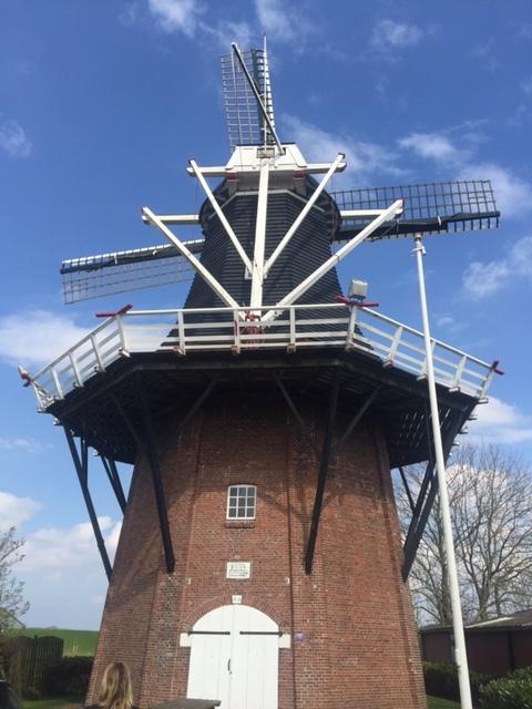 Windmill in Vierhuizen, Netherlands