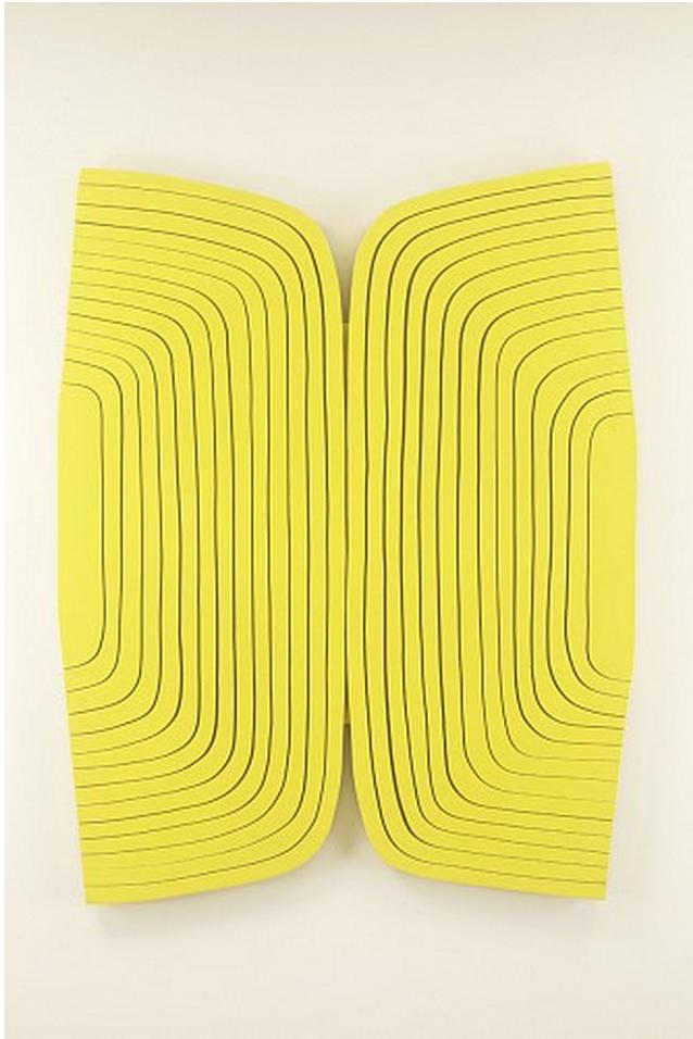 Light Lemon , 2015 ZIM345  wood panel with urethane paint, 46 x 36 1/2 inches