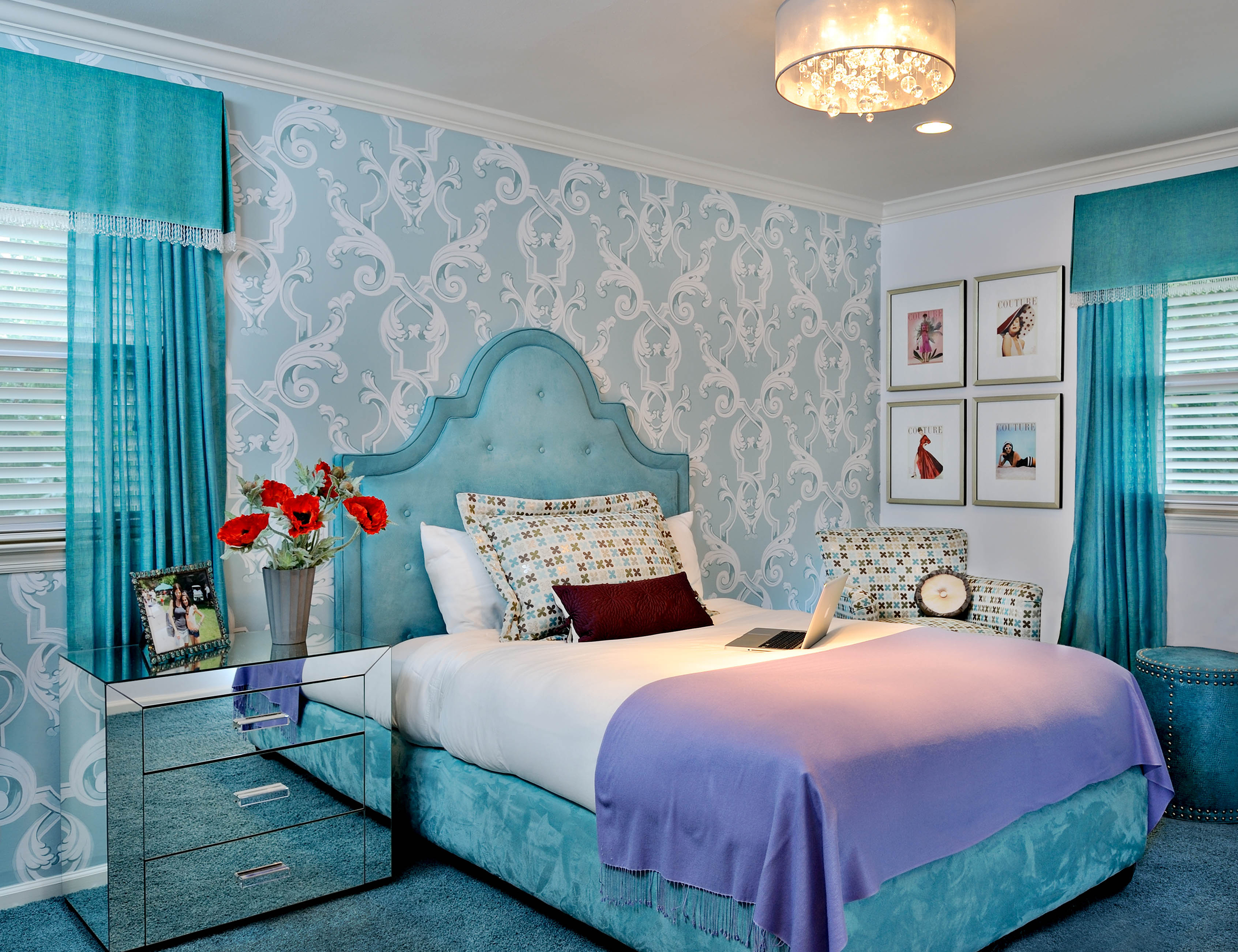 A girl's room designed by New York Interior Design in Roslyn NY