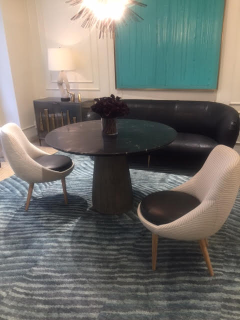 ROUND TABLE AND CHAIRS @ KELLY WEARSTLER