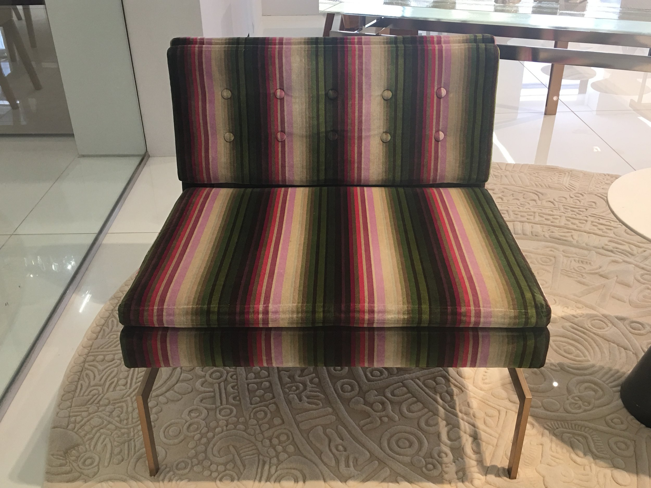 STRIPED CHAIR AT KGBL SHOWROOM - 200 LEX