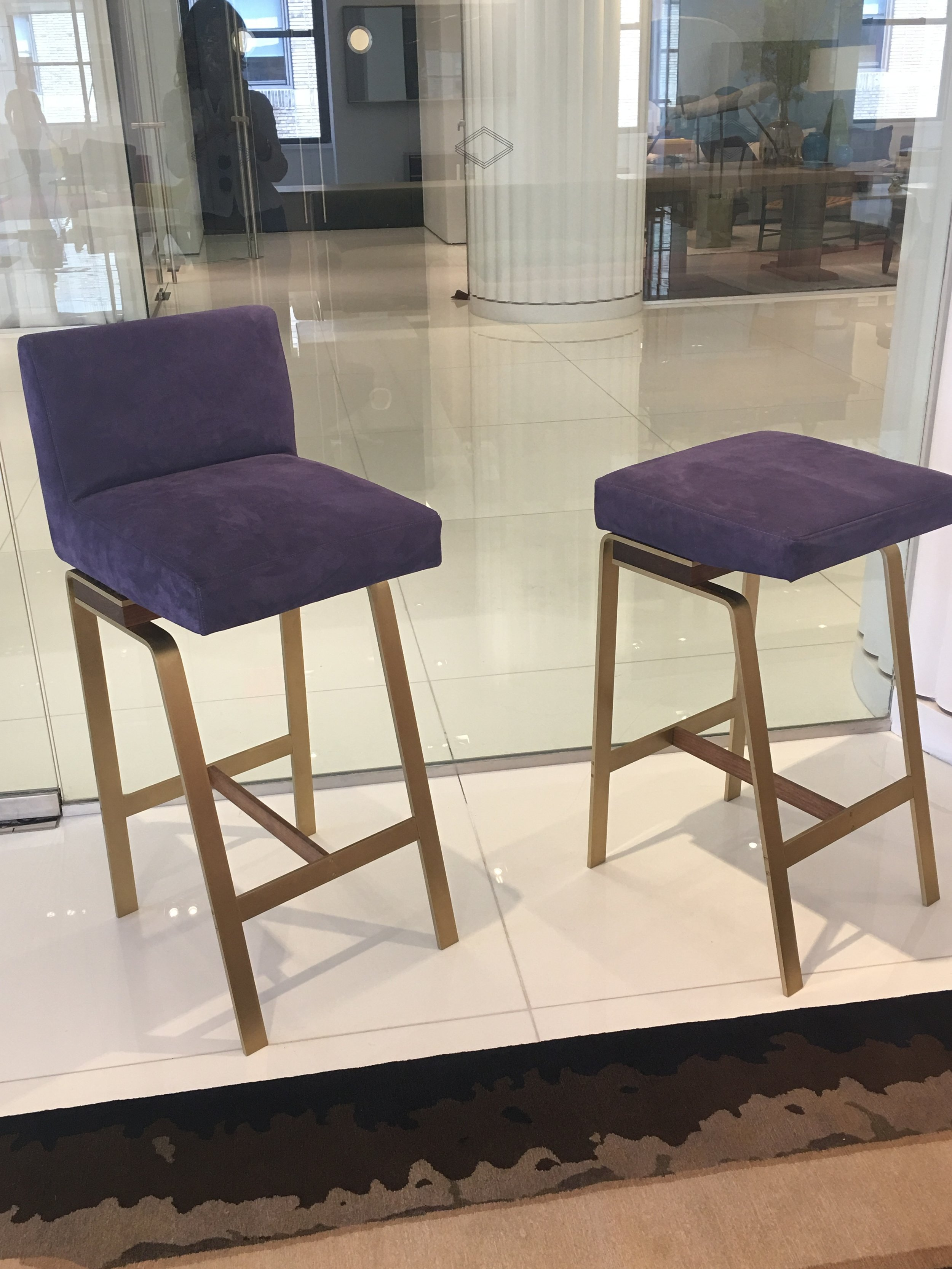 PURPLE STOOL AT KGBL SHOWROOM - 200 LEX