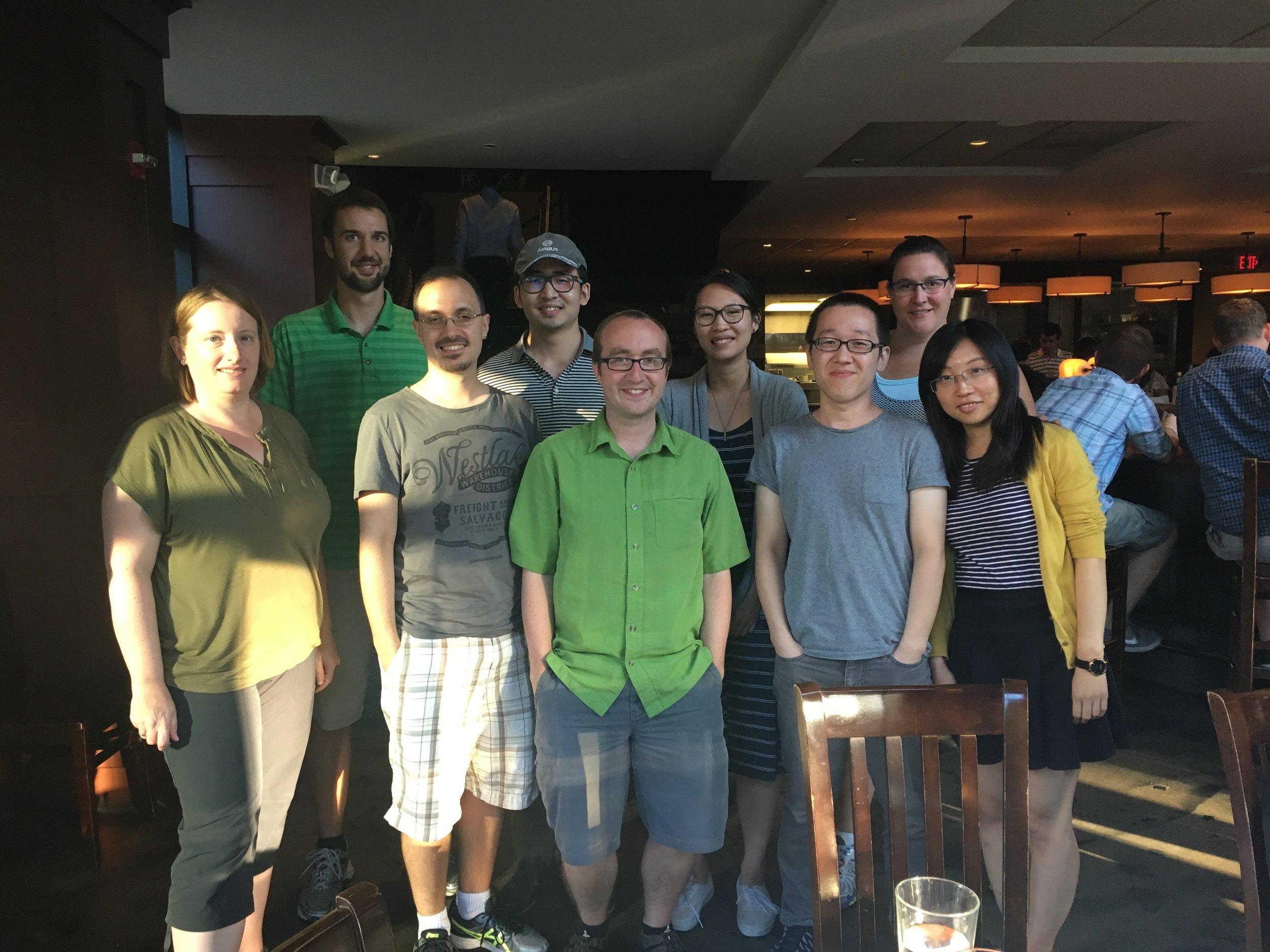Group celebration of three new PhDs!