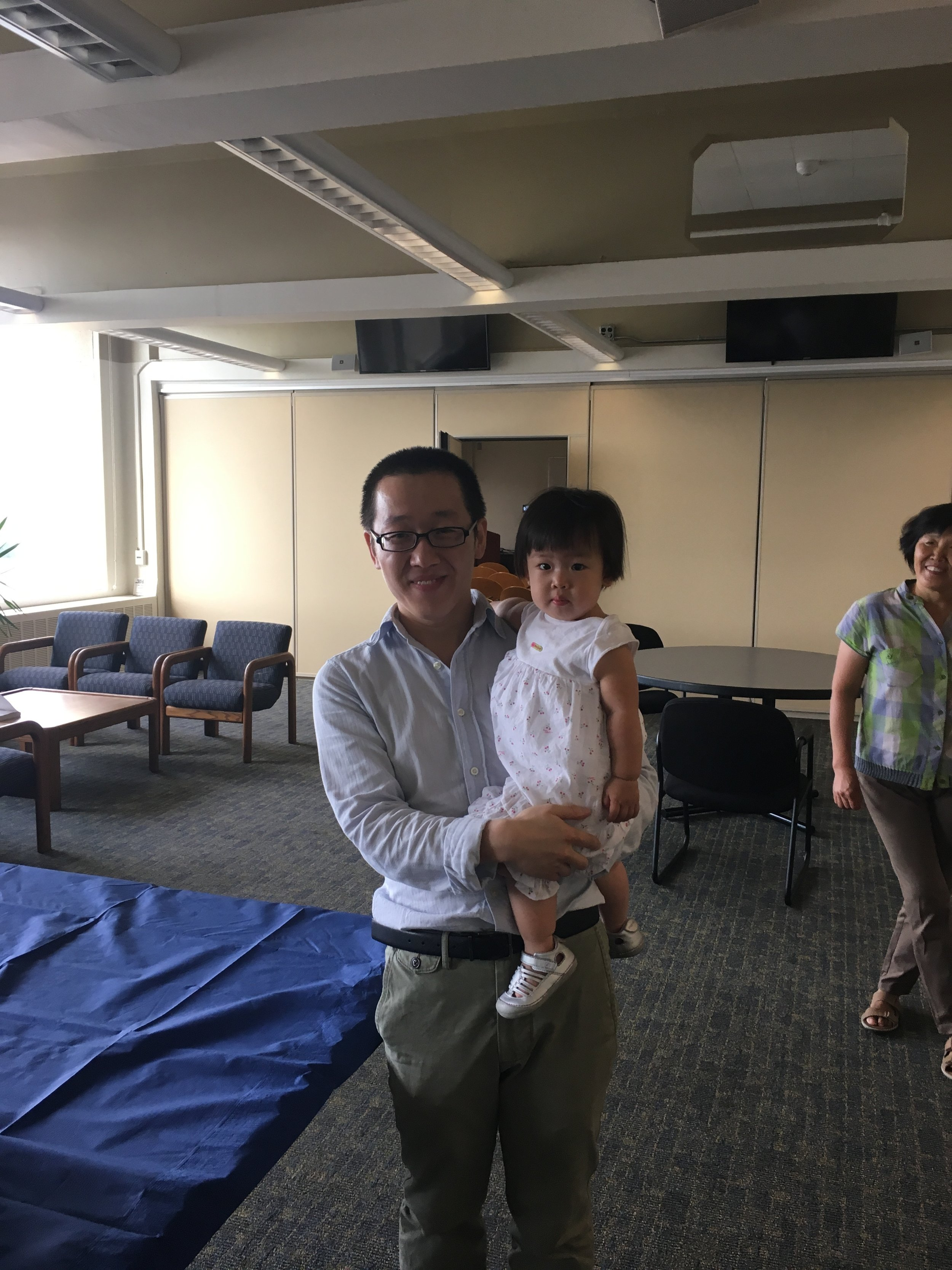 Dr. Shaojie Song and his daughter