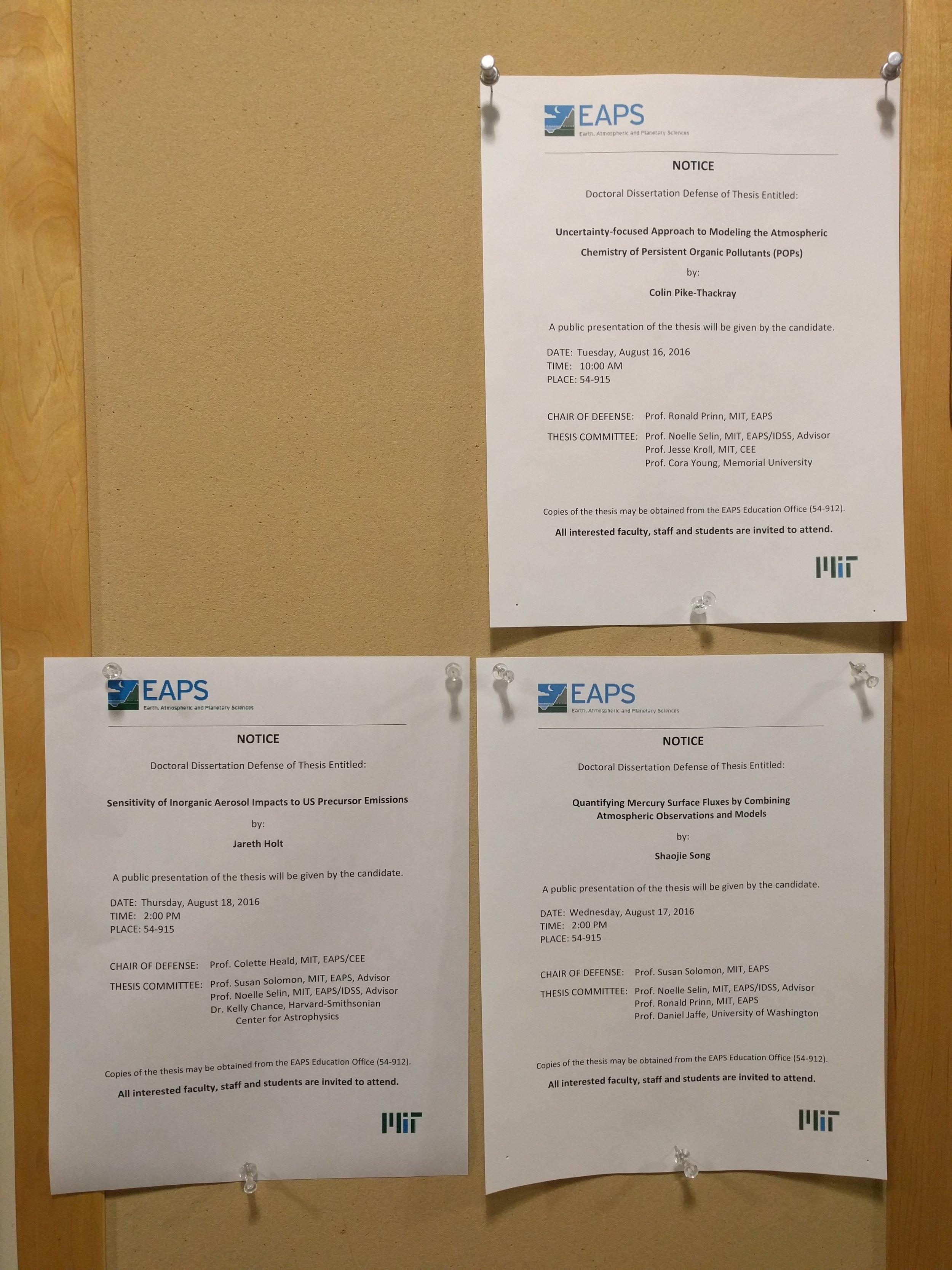 SelinGroup Dissertation Defense Triptych