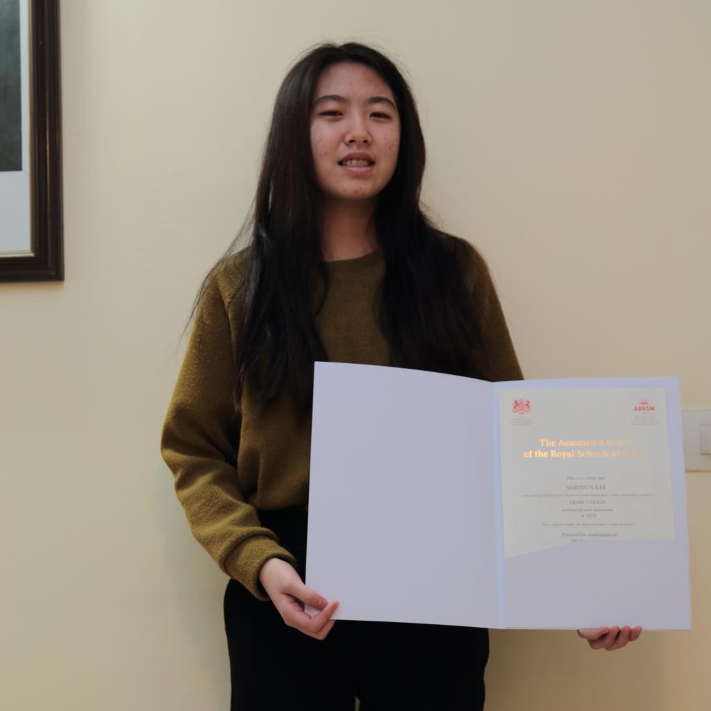 SHIHYUN LEE  (2018) Grade 1 Violin - Distinction