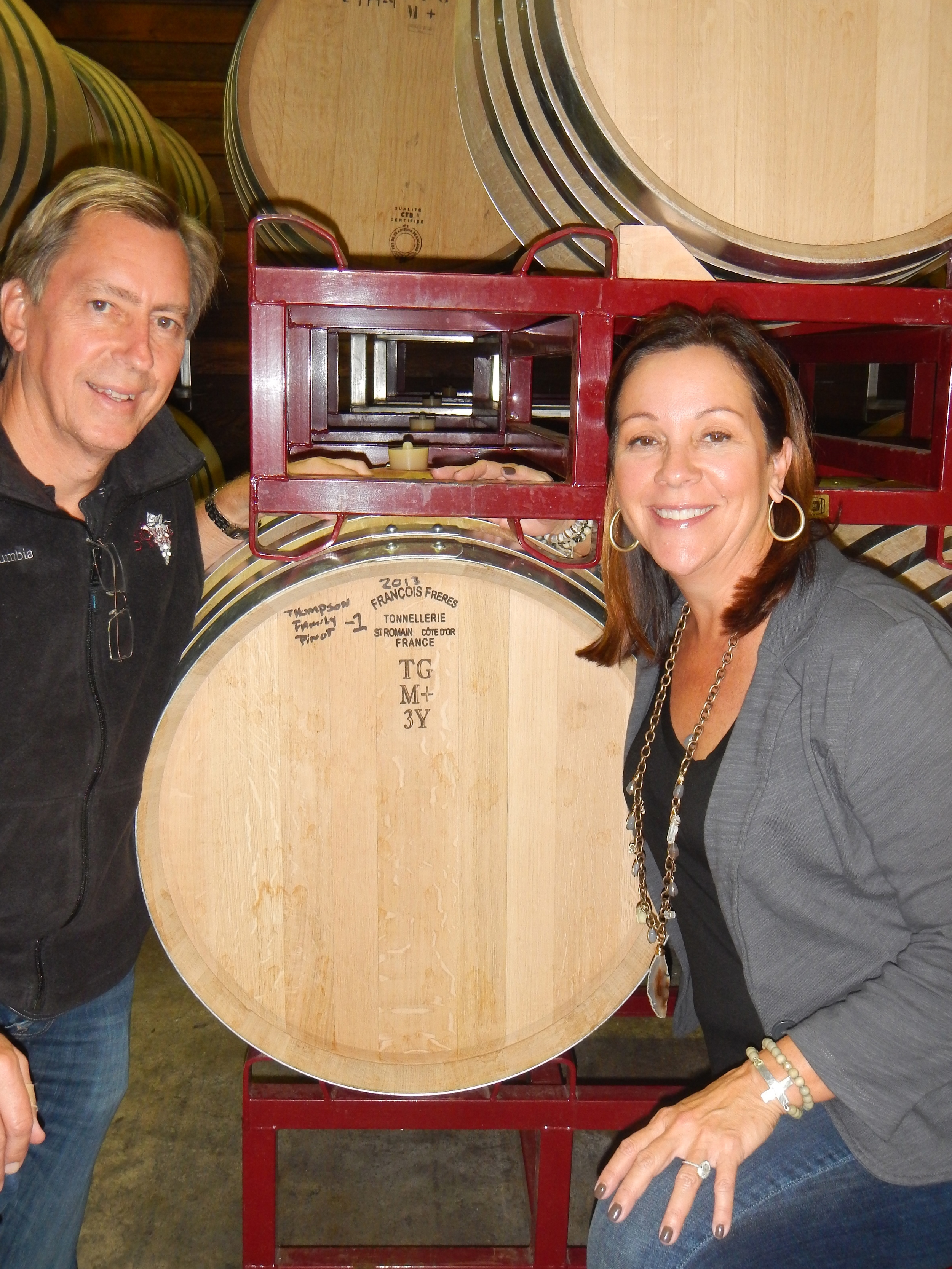 This is the first 2013 vintage RRV Pinot Noir in the barrel.