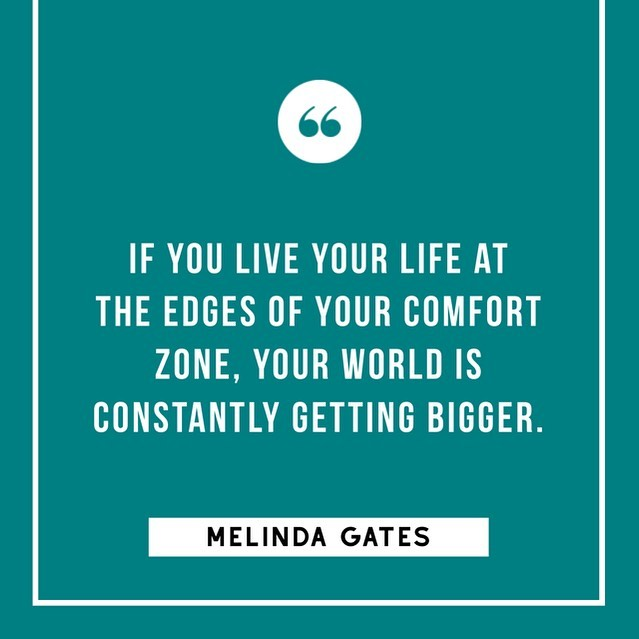 Today's #MondayMotivation is brought to you by the marvelous Melinda Gates. 📣🙌🏽 Take a moment this week to try something that takes you out of your comfort zone. 💪  #GLGculturetip #glassladdergroup #glg #blackowned #blackownedbusiness #womenowned #womenownedbusiness #WOSB #mondaymotivation #melindagates