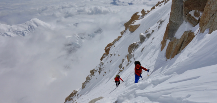 High on the Cassin Ridge a few days after summiting Denali via the West Buttress