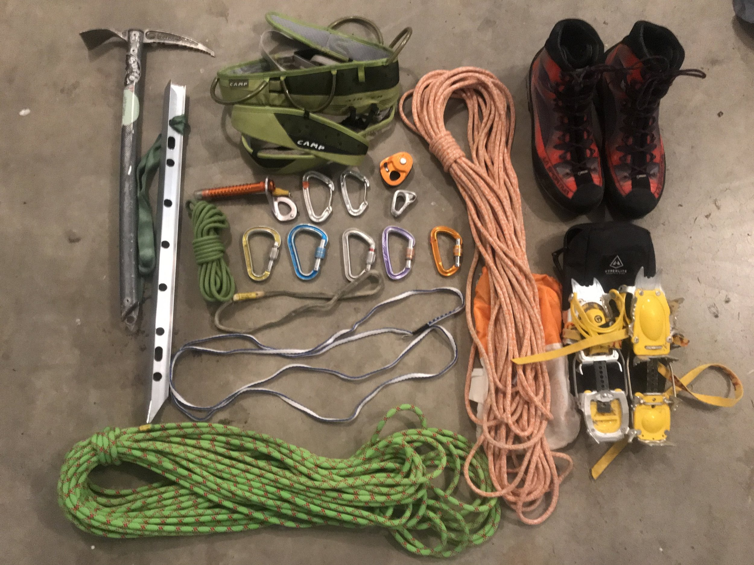 Technical Gear for the first summit of Mt. Rainier