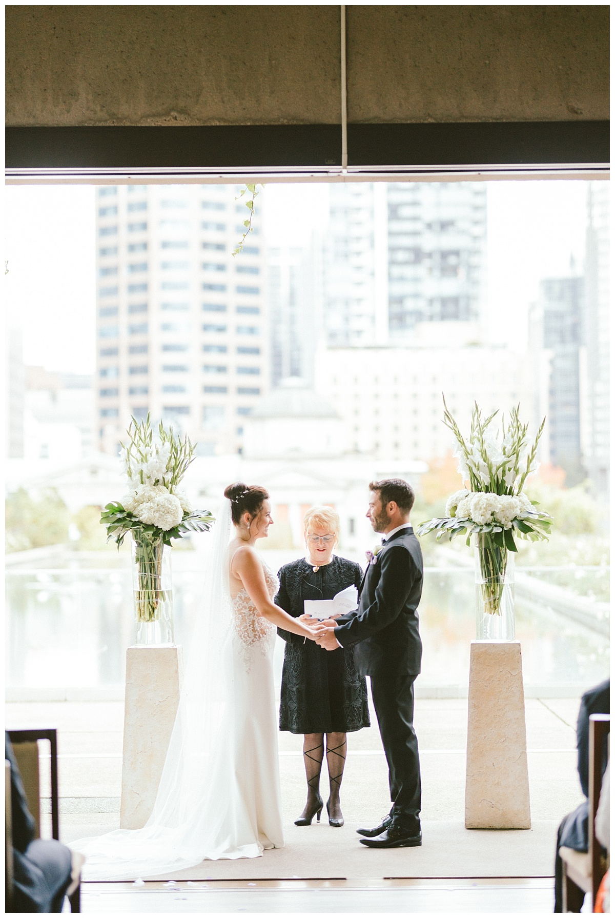 Wedding ceremony at Law Courts Inn, Vancouver