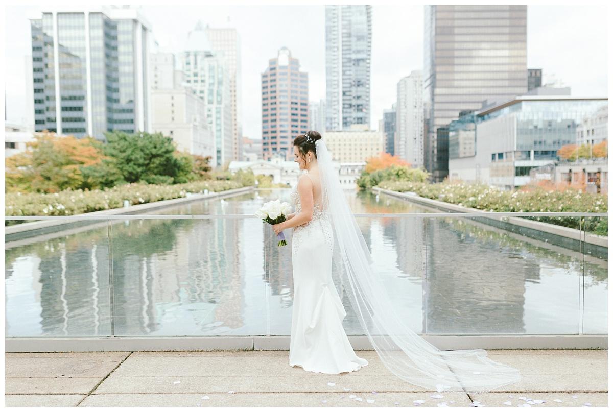 Wedding prewedding photos downtown Vancouver BC (Law Courts Inn)