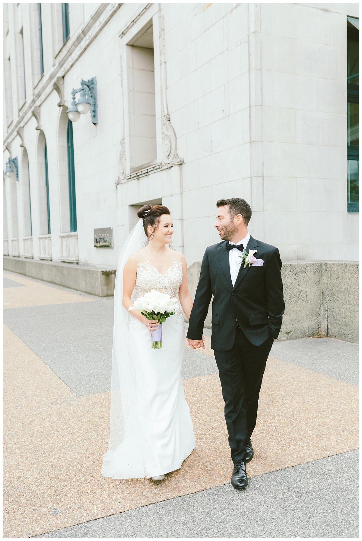 Wedding prewedding photos downtown Vancouver BC (Gastown)