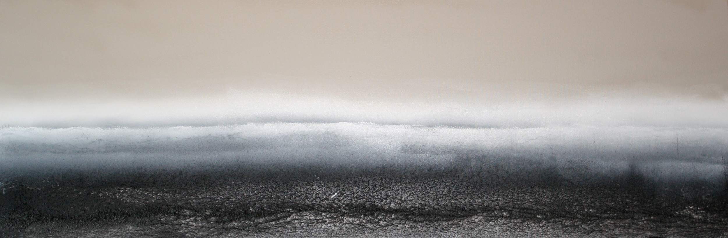 black sand coast . 20x60. textured acrylic. 2010.  sold.