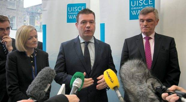 Elizabeth Arnett, Irish Water Communications, AlanKelly  Minister for Environment, Community and Local Government   & John Tierney Managing Director Irish Water