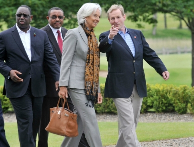 Christine Lagarde and Enda Kenny
