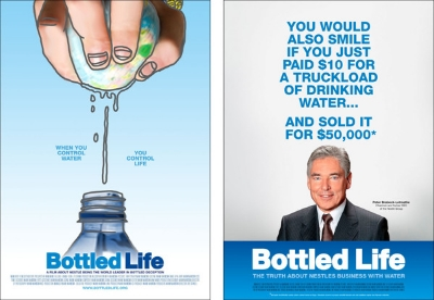 Bottled Life documentary directed by Urs Schnell 2012.  Writern by Res Gehringer