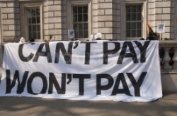 Can't Pay Won't Pay bin the bills demonstration Saturday April 25 Letterkenny
