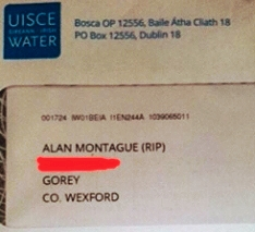 Bill from Irish Water