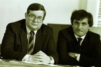 Ray Burke and Bertie Ahern former Fianna Fail ministers
