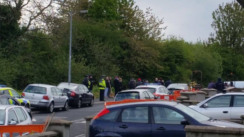 Monday May 17th stand-off in Manorcunningham