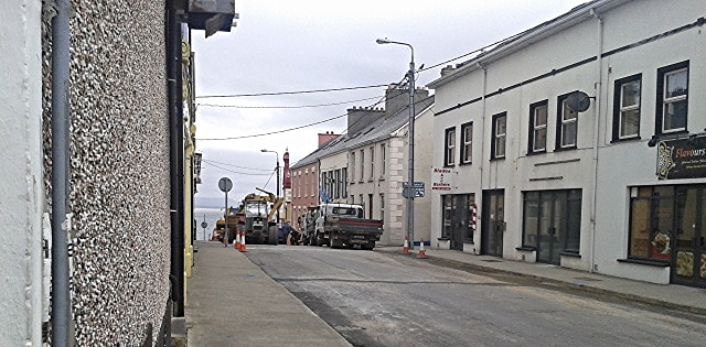 Donegal County Council water staff fixing water mains in Key St and James St Moville. May 21, 2015