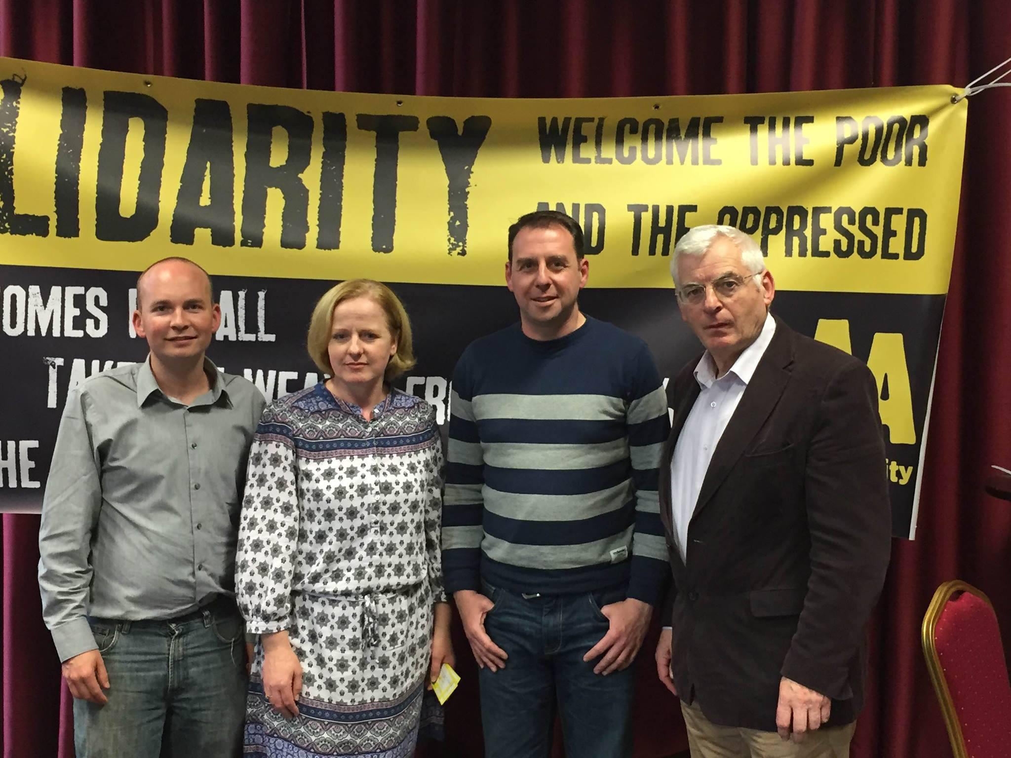 Paul Murphy, TD, Ruth Coppinger, TD, Michael O'Brien, Cllr and Joe Higgins TD