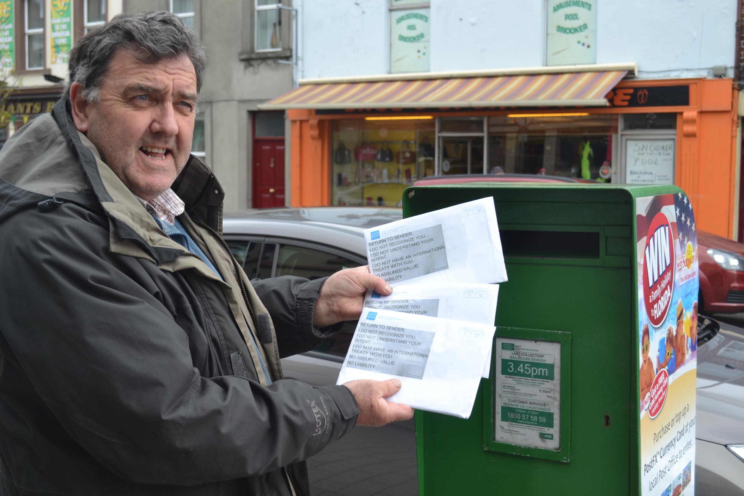 James Quigley returning bills to Irish Water