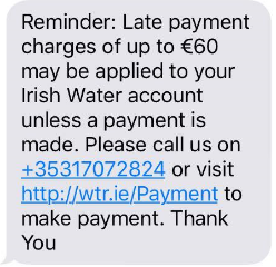 Irish Water's text message