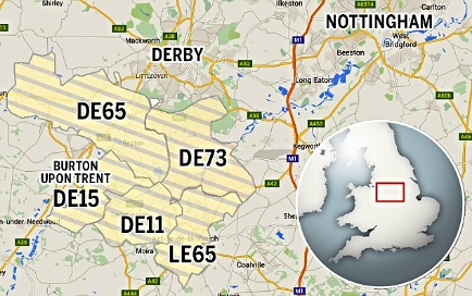 People living in the DE11, DE65 and DE73 areas of Derbyshire have been instructed not to use their water supply