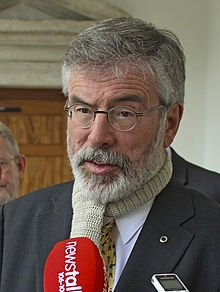Gerry Adams         Sinn Fein President