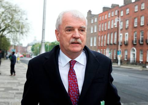 Finian McGrath arriving for the Cabinet meeting at Government Buildings yesterday (Picture: Tom Burke)