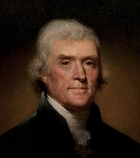 Thomas Jefferson,1743–1826. Portrait by Rembrandt Peale