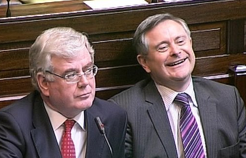 Eamon Gilmor (left), Brendan Howlin (right), Labour Party, source: RTE News, 2016