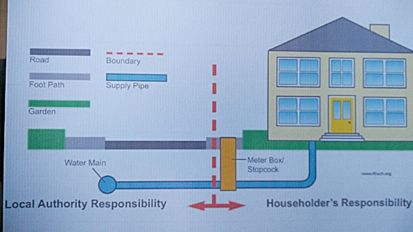 This diagram from a council website is somewhat misleading. The boundary box is called a boundary box because it's the technical boundary of your dwelling however you also have curtilege which often extends to the centre of the road.
