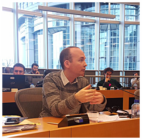 Paul Murphy in Brussels speaking to The European United Left/Nordic Green Left,  The GUE/NGL is a Confederal Political Group in the European Parliament and consists of 52 MEPs from 12 Member States