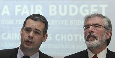 Pearse Doherty and Gerry Adams, Sinn Féin