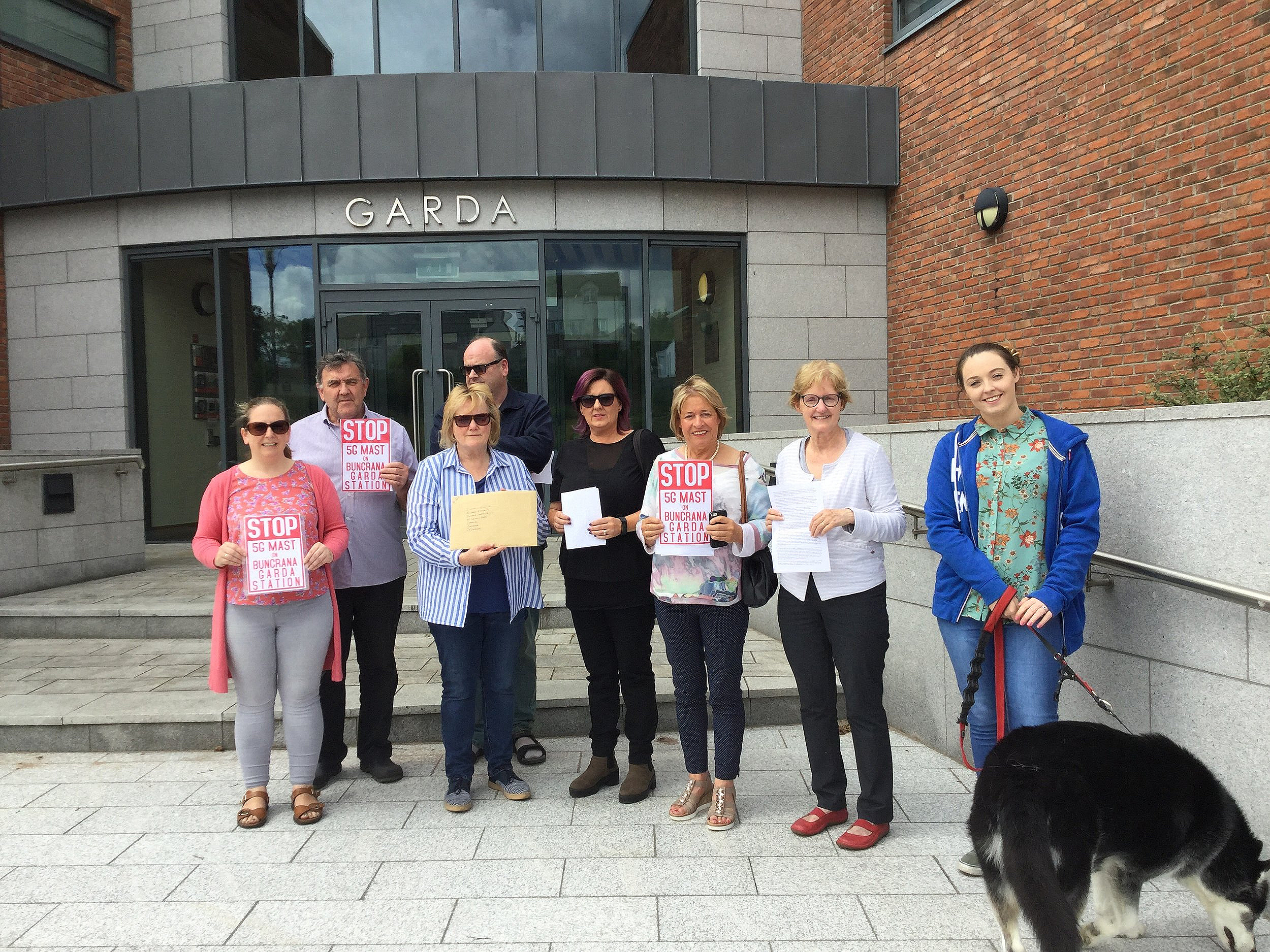 Local Buncrana residents (BGMAG) deliver petition to An Garda Síochana, June 22, 2019